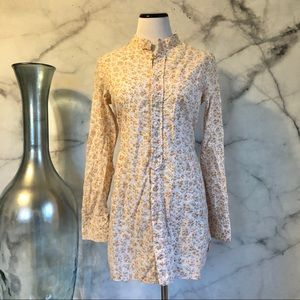 🆕 Free People Floral Cotton Tunic with Pockets.
